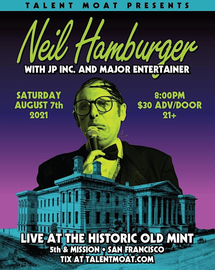 Neil Hamburger live at the historic Old San Francisco Mint image