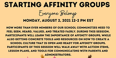 Starting Affinity Groups: Everyone Belongs tickets