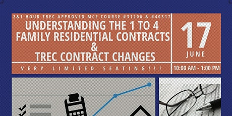 Understanding 1 to 4 Family Residential Contracts & TREC Contract Changes tickets
