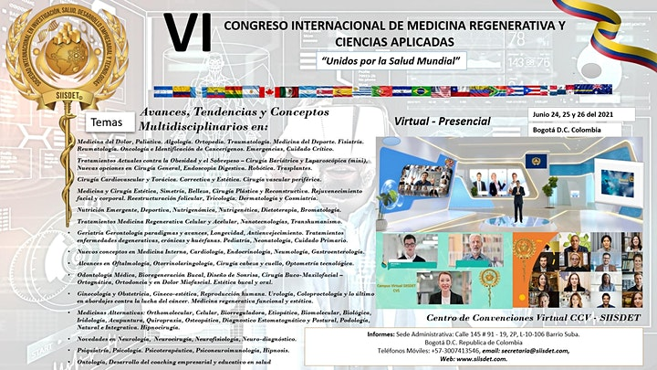 Imagen de VI CONGRESO INTERNACIONAL DE MEDICINA REGENERATIVA Y CIENCIAS APLICADAS