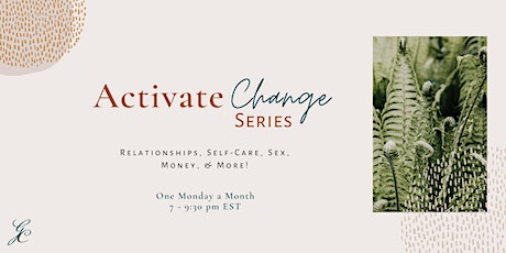 Activate Change Series -  Money and Finances tickets