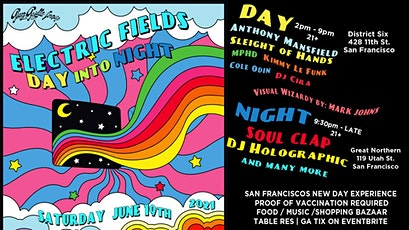 Electric Fields Afterparty w/ Soul Clap | DJ Holographic tickets