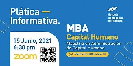 Plática Informativa del MBA Capital Humano entradas