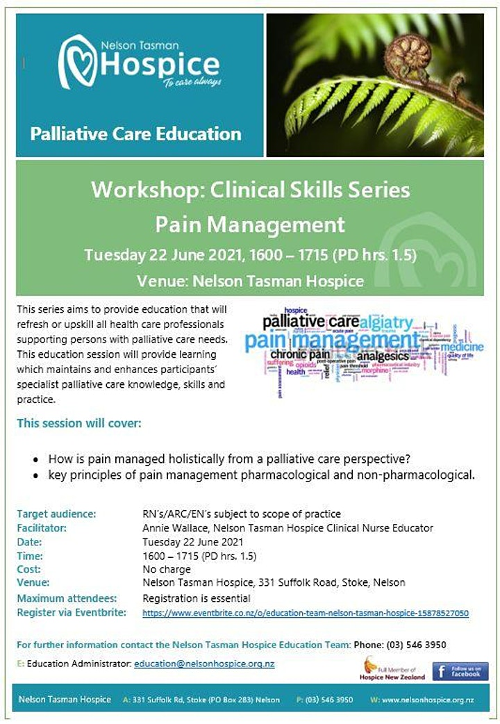 Pain Management (Clinical Skills Series 1.5hrs.) image
