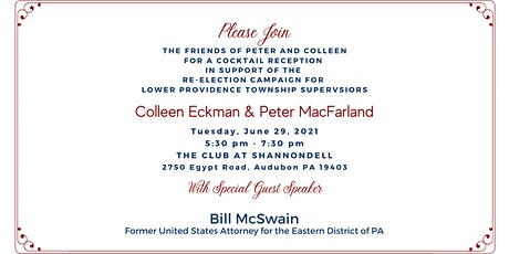Eckman and MacFarland Reelection Campaign Cocktail Reception tickets