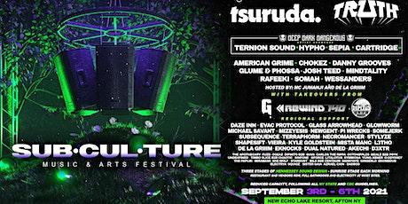 Subculture Music and Arts Festival 2021 w/ Tsuruda, Truth, DDD Showcase.. tickets