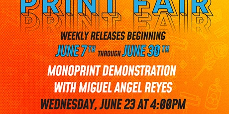 Monoprint demonstration with Miguel Angel Reyes tickets