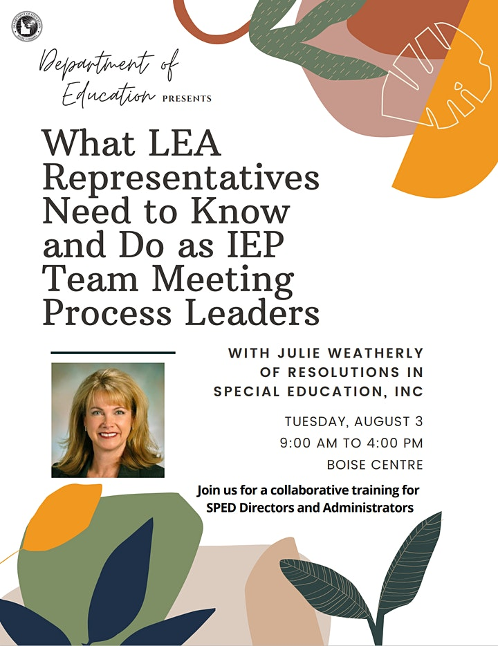 What LEA Representatives Need to Know & Do as IEP Team Mtng Process Leaders image