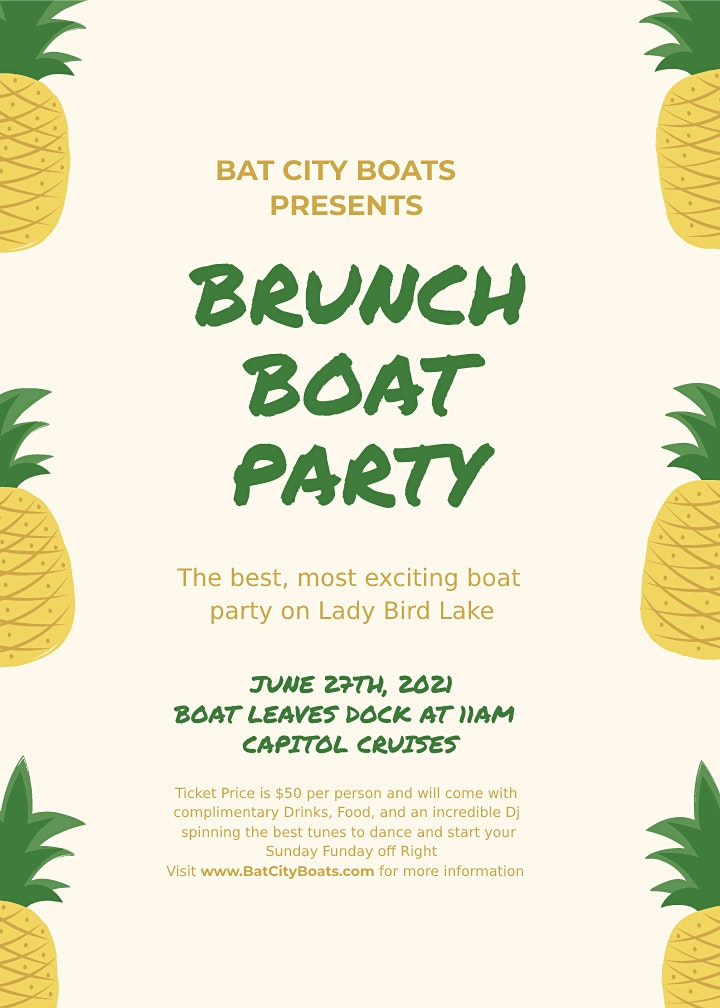 Brunch Boat Party image