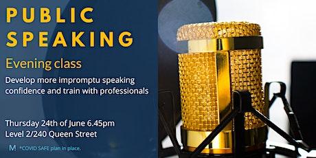 Public Speaking evening class tickets