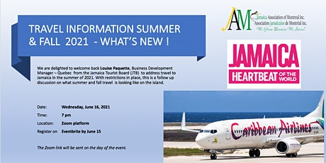 Travel information to Jamaica for summer and fall 2021 - What's new ! tickets