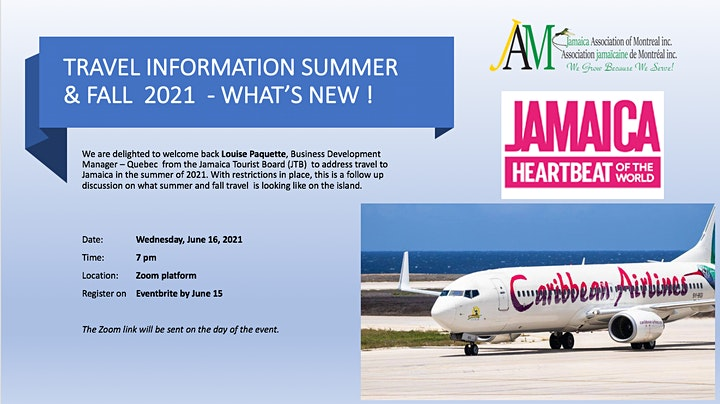 Travel information to Jamaica for summer and fall 2021 - What's new ! image