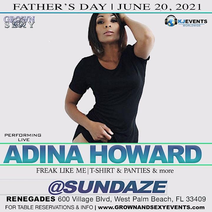 "GROWN & SEXY SUNDAZE @ RENEGADES ""ADINA HOWARD"" FATHER'S DAY image"