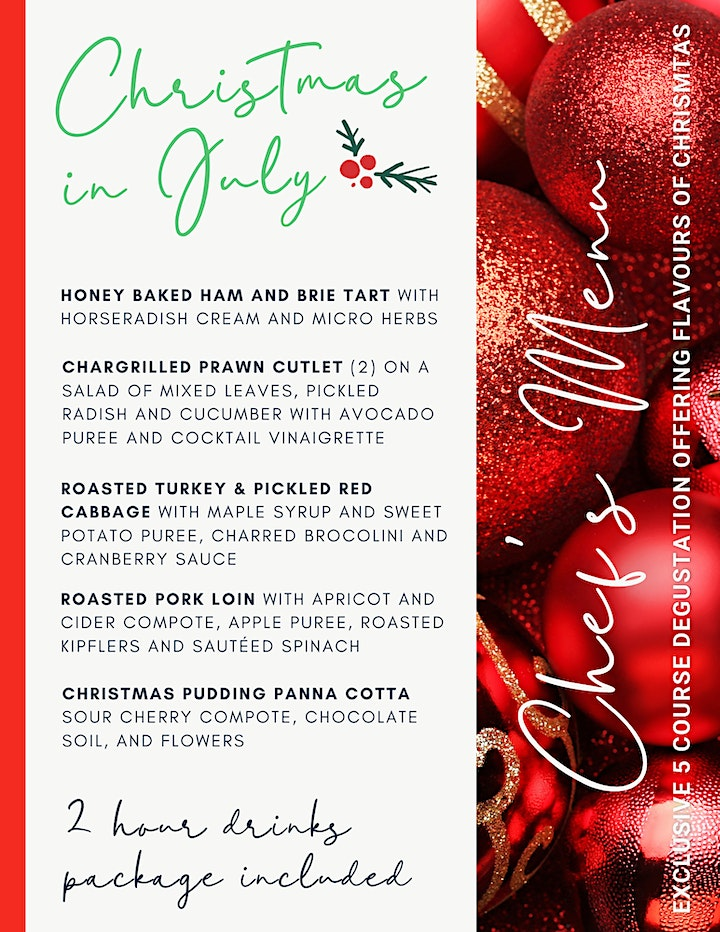 Christmas in July | 5 Course Degustation image