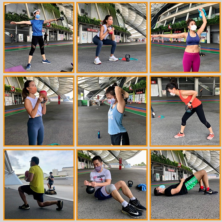 Sun 8am - Functional Fitness with Kettlebells-Outdoor ActiveSG approved image