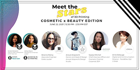 Meet the Stars of 3D Printing in the Beauty x Cosmetic Industry tickets