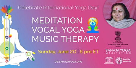 Meditation, Vocal Yoga & Music Therapy Workshop - International Day of Yoga tickets
