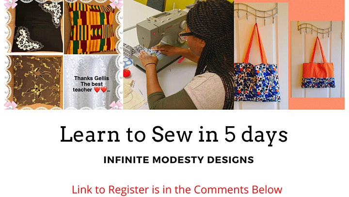 Free online sewing event for beginners image