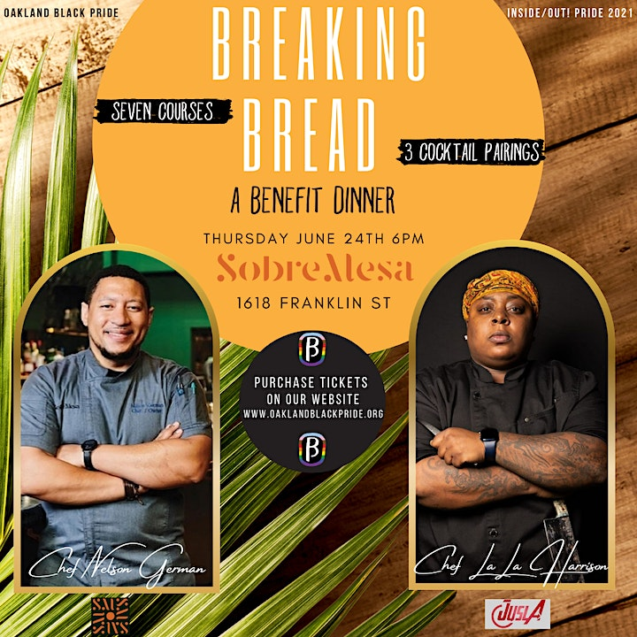 Breaking Bread: A Benefit Dinner w/ Chef Nelson German & Chef LaLa Harrison image