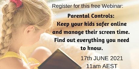 Internet Safety:  Parental Controls to keep kids safer online tickets
