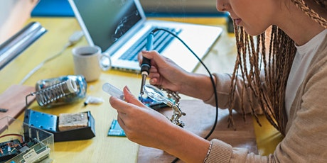 Workshop: Learn to Solder a Wearable Badge! Seniors, Adults + Kids. tickets