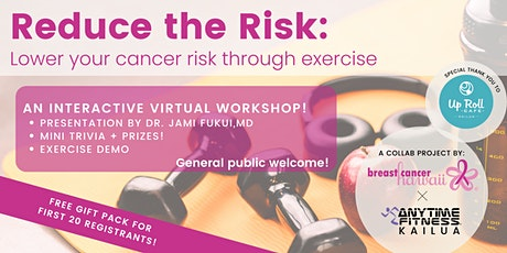 Reduce the Risk: Lower your cancer risk through exercise biglietti