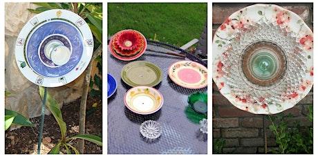 Flower Plate Garden Ornament Workshop - Garden City tickets