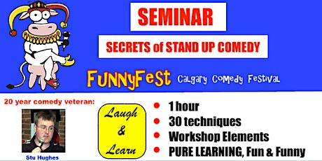 Tuesday, Sept. 14 @ 5 pm - Secrets of Stand Up Comedy Seminar tickets