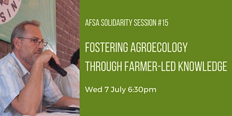 Solidarity Session #15 - Fostering agroecology with farmer-led knowledge tickets