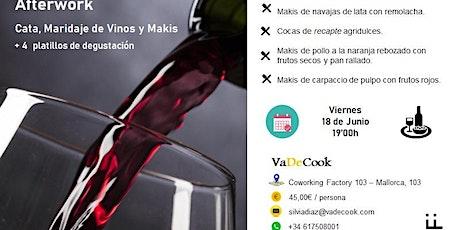 Maridajes de vinos entradas