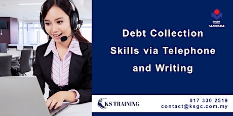 Debt Collection Skills via Telephone and Writing (HRDF Claimable) tickets
