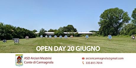 OPEN DAY 20 GIUGNO - TIRO CON L'ARCO biglietti