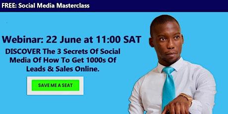FREE Social Media Masterclass Webinar 2021 tickets