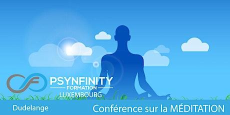 Conférence sur la Méditation billets