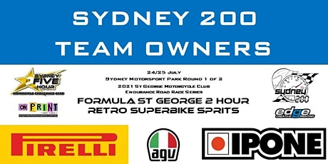 TEAM OWNERS (SYDNEY 200 ONLY)  St George MCC Endurance Series Round 1of 2 tickets