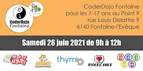 CoderDojo Fontaine - 26/06/2021 tickets