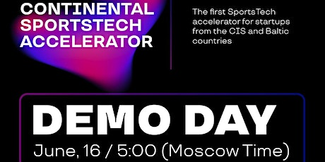 Continental SportsTech Startup Accelerator – Final (online) Demo Day tickets