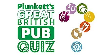 Plunkett's online pub quiz with Richard Conway tickets