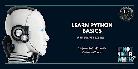 BeCode Antwerp - Basics of Python Workshop tickets
