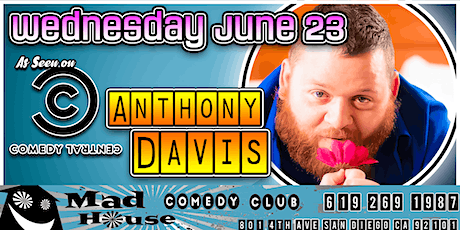 Anthony Davis as seen on Comedy Central and NBC's Last Comic Standing! boletos