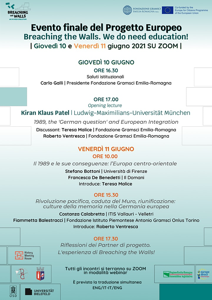 Evento finale progetto europeo Breaching the Walls! We do need education image