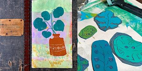 Lino Cut & Print Workshop - Bluemoon Gallery Heswall Wirral tickets