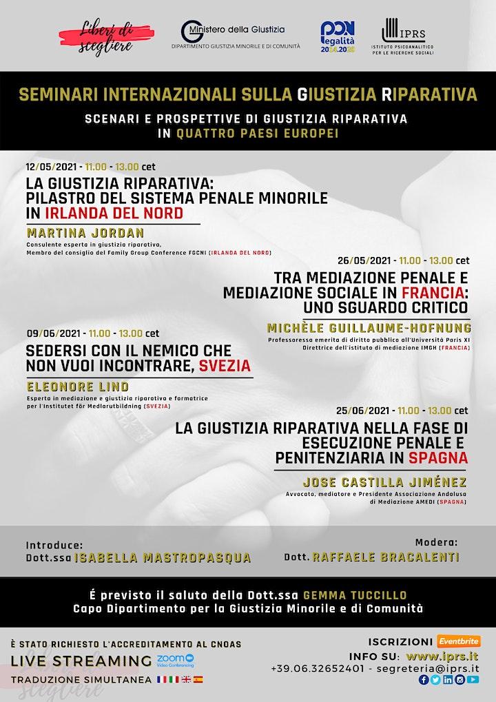 Immagine Seminari Internazionali sulla Giustizia Riparativa - 3 Incontro