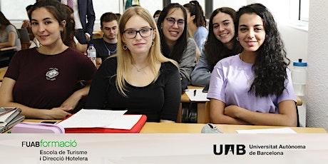 Sessió informativa online sobre Graus en Turisme i Direcció Hotelera UAB entradas