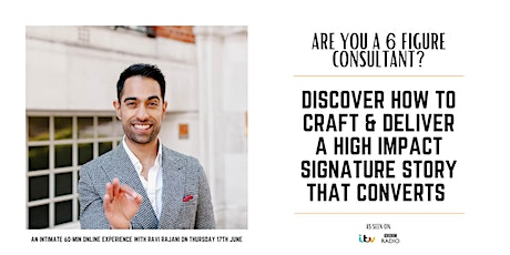 Are you a 6-figure consultant who wants to craft their signature story? tickets