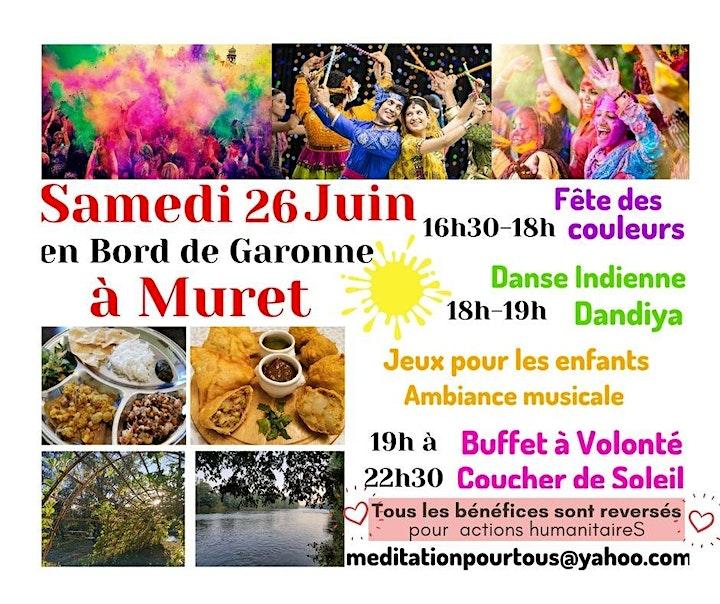 Image pour FÊTE DES COULEURS ET REPAS INDIEN, en Bord de Garonne, à Muret