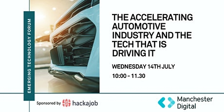 Emerging Technology Forum: The accelerating automotive industry &  tech tickets