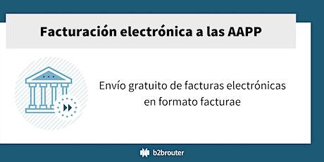 Factura electrónica gratuita a las AAPP para entidades sin ánimo de lucro boletos