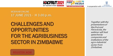 CHALLENGES AND OPPORTUNITIES FOR THE AGRIBUSINESS SECTOR IN ZIMBABWE tickets