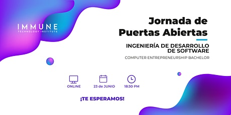 Jornada de Puertas Abiertas: Ingeniería de Desarrollo de Software entradas